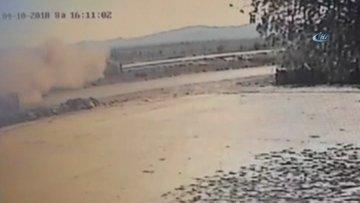 Sanatçı Esat Kabaklı'nın geçirdiği kaza anı kameralarda