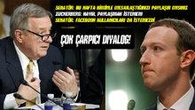 Senatör Dick Durbin'den Facebook CEO'su Mark Zuckerberg'e zor sorular