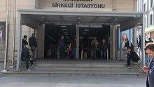 Marmaray Sirkeci İstasyonunda bir kişi raylara düştü