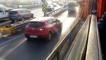 Uyanık sürücüler trafiği böyle birbirine kattı