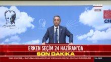 Bülent Tezcan'dan erken seçim açıklaması