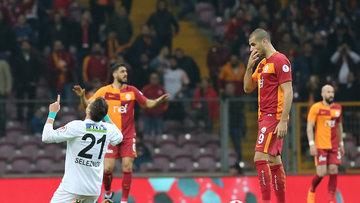 Galatasaray - Akhisarspor maçının kareleri