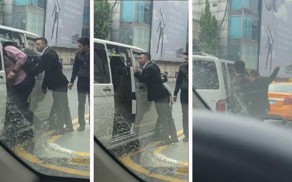 Atatürk Havalimanı'nda UBER aracına saldırı!