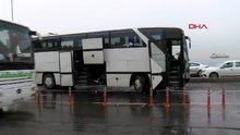 Fatih'te tur otobüsleri çarpıştı