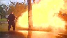 Eve giren jipin patlama anı