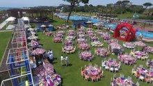 Antalya'nın 2. Hint düğünü havadan görüntülendi