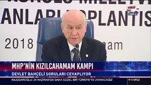 MHP Lideri Devlet Bahçeli Kızılcahamam'daki toplantı sonrası gazetecilerin sorularını yanıtladı