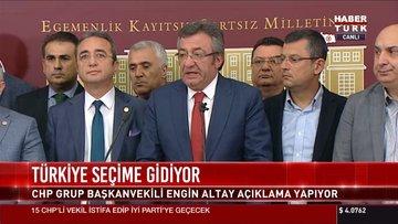 CHP'den seçim açıklaması