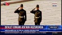 Devlet Erkanı Ata'nın huzurunda