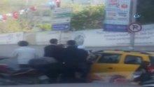 İstinye'de taksici, kadın yolcudan fazla para isteyince ortalık karıştı
