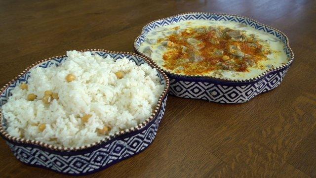 Çağla Yemeği ve Nohutlu Pilav