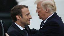 Trump ve Macron'un dokunaklı anları