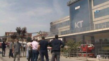 Başakşehir'de bulunan 5 katlı bir iş merkezinde yangın çıktı