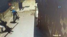 Polisten kaçarken tekvandocuya yakalandılar...O anlar kamerada