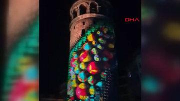 Galata Kulesine yansıtılan video Mapping gösterisi beğeni topladı