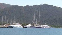 """Dünyanın en büyük yelkenlilerinden """"EOS"""" Marmaris'te"""