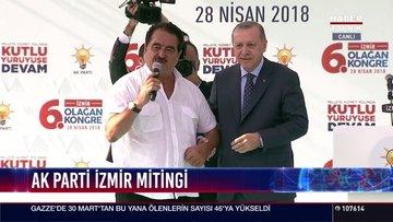 AK Parti İzmir mitinginde İbrahim Tatlıses sürprizi