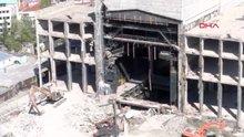 Yıkımı süren AKM'nin havadan görüntüleri