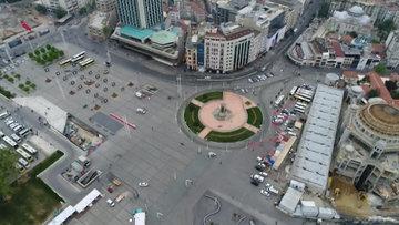 Taksim Meydanı havadan görüntülendi