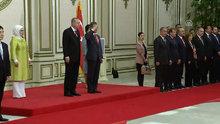 Cumhurbaşkanı Erdoğan, Güney Kore Cumhurbaşkanı Moon Jae-in tarafından resmi törenle karşılandı