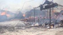 Bodrum'da işyerinde yangın çıktı