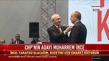Muharrem İnce'ye Türk bayrağı rozeti