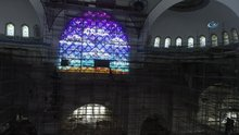 Çamlıca Camii'nin içi ilk kez drone ile görüntülendi
