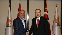 Cumhurbaşkanı Erdoğan-İnce görüşmesi başladı