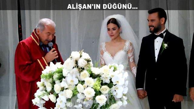 Alişan ve Buse Varol çiftinin masal gibi düğününden görüntüler!