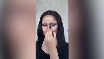 Mona Lisa makyajıyla fenomen oldu