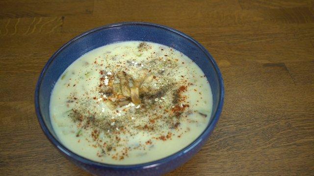 Kabaklı Mantar Çorbası