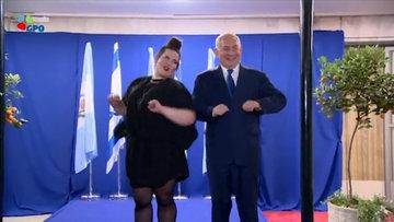 Dünya Gazze için yas tutarken, Netanyahu dans etti!