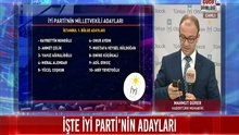 İYİ Parti'nin milletvekili adayları