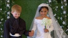 Meghan Markle ve Prens Harry'nin düğününü yeniden canlandıran çocuklar