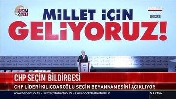 CHP'nin Seçim bildirgesi