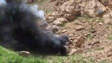 Van'da teröristlerin barınma alanları böyle imha edildi
