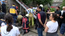 Sarıyer'de kilise bahçesinde kurtarma operasyonu