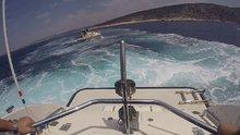Yunanistan'dan getirilen uyuşturucuya denizde film gibi operasyon