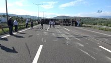 Ankara TEM otoyolu kaza nedeniyle kapandı