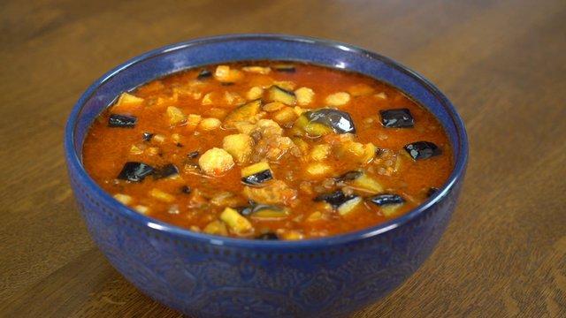 Malatya Usulü Patlıcanlı Sulu Köfte
