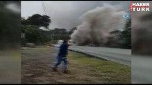 Guatemala'da Fuego Yanardığı 400 yıl sonra patladı