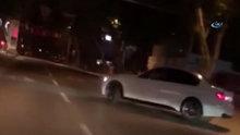 Trafik magandasının Bağdat Caddesi'nde terör estirdiği anlar kamerada