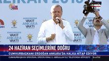 Cumhurbaşkanı Erdoğan Ankara'da halka hitap etti