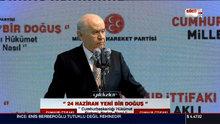 MHP Genel Başkanı Bahçeli Bursa'da konuştu