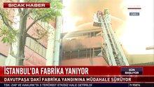 İstanbul'da iplik fabrikasında yangın!