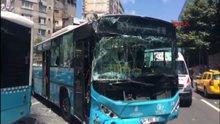 Şişli'de 3 özel halk otobüsü çarpıştı: 6 yaralı