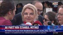 Tansu Çiller Ak Parti İstanbul mitinginde