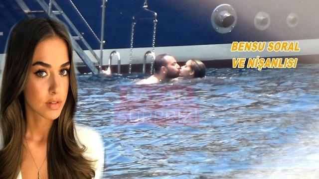 Bensu Soral ve nişanlısı Bodrum'da aşk tazeledi!