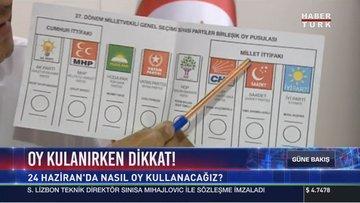 Oy kullanırken dikkat