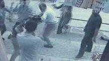 Başkent'te gazi ve kardeşine çirkin saldırı kamerada